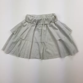 Silver shiny skirt
