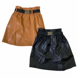 All the way leather skirt