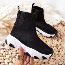 Comfy sneaker - black & white