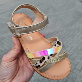A little bit of everything gold sandals