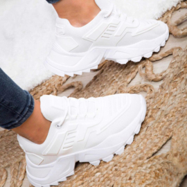 White Sporty sneaker - adult