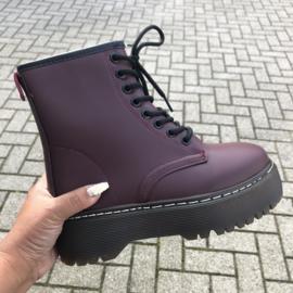 Bordeaux high boots