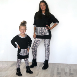 Snake & Black hoody set (mommy & me)