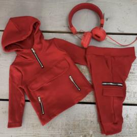 Baby red Pocket & Zipped set