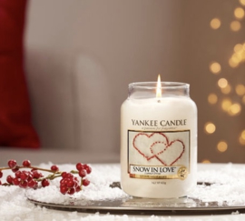 Yankee candle, Snow in Love, Jar large