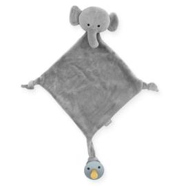 """Speendoekje """"jollein"""" olifant grijs, met of zonder naam geborduurd"""