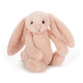 """JELLYCAT"" Bashful Bunny, blush, met of zonder naam"
