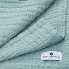 """""""Nordic coast company"""" mousseline Baby Deken, jade green met of zonder naamborduring"""