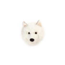 'Wild & Soft - Trophy'- Muurdecoratie Witte wolf Lucy