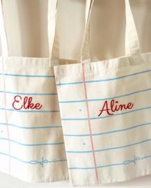 Coton bags met (of zonder) naam