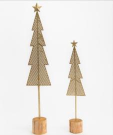 Set kerstbomen metal gold