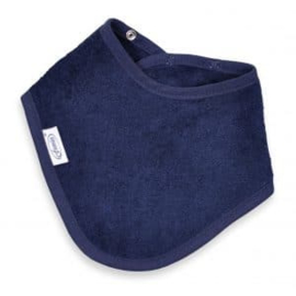 Bandana in spons donker blauw met of zonder naamborduring