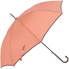 Paraplu, zacht oranje / wit