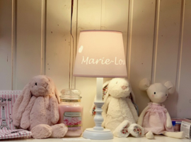 "Gepersonaliseerde sfeerlamp ""My Little Lamp"", klassiek/wit"