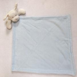 MAXI Knuffeldoekje, licht blauw, hond met of zonder naamborduring