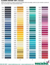 Kleuren borduurgarens kiezen.