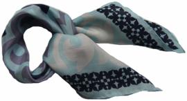 """Sjaal """"Les Belles Vagabondes, Saigon bleu, 100% zijde"""