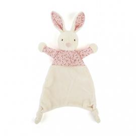 """Knuffeldoekje """"Jellycat"""" petal bunny + 1 naam geborduurd"""