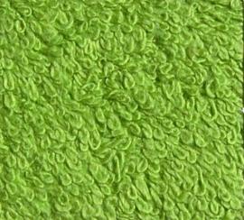 Washandje limoen groen (30 x 50) + 1 letter geborduurd