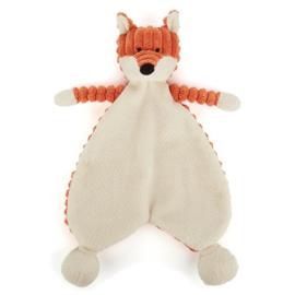 """Knuffeldoekje/Soother """"Jellycat"""" Baby Fox met of zonder naamborduring"""