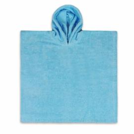 Poncho in badstof, 2-5j, blauw, met of zonder naamborduring