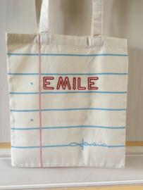 Coton bag met (of zonder) naam geborduurd