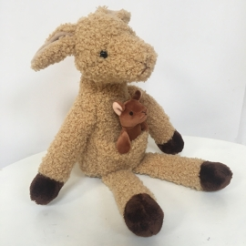 Knuffel kangoeroe + babytje