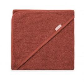 Badcape spons 80x80cm, koper kleur, met of zonder naamborduring