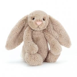 """""""JELLYCAT"""" Bashful Bunny, beige, met of zonder naam"""