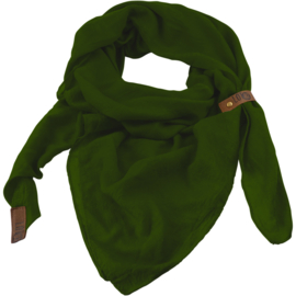 """Sjaal """"LOT83"""", Puk, driehoekig groen"""