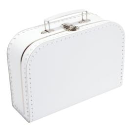 Kinderkoffertje wit 25 cm