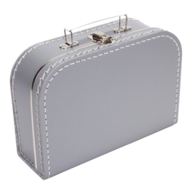 Kinderkoffertje grijs 25 cm