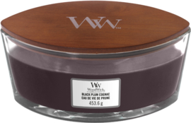 """Black Plum Cognac"" WoodWick Ellipse 50u."