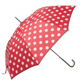 Paraplu, rood / wit