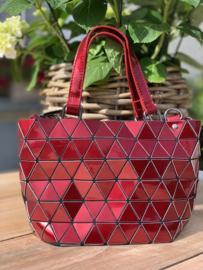 """Handtas """"Geometric"""" rood"""