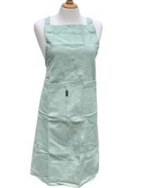 """Keukenschort """"Linen & More"""", mint groen, met of zonder naamborduring"""