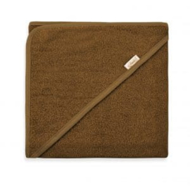 Badcape spons 80x80cm, brown-clay, met of zonder naamborduring