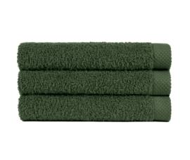 Handdoek kaki (50 x 100) + 1 naam geborduurd