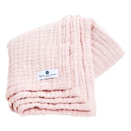 """""""Nordic coast company"""" mousseline Baby Deken, pink met of zonder naamborduring"""