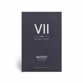 """VII"" Geurzakje ""NOTES"",  Soft Bergamot & Tonka Bean"