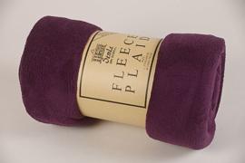 Fleecedeken 130x170 dark violet + 1 naam geborduurd
