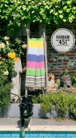 "HamamTowel/Foutas/Wikkeldoek ""451"", 100 x 200 cm + 1 naam geborduurd"