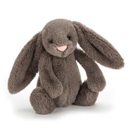 """JELLYCAT"" Bashful Bunny, truffle, met of zonder naam"
