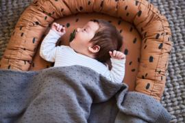 """""""Jollein"""" Baby Deken Bliss Knit 75x100cm, Storm Grey, met of zonder naamborduring"""