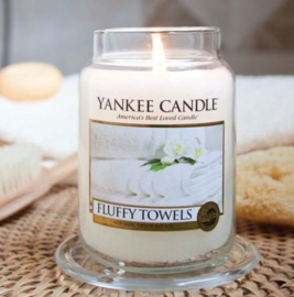 Yankee candle, Fluffy Towels, Jar large