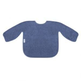 Mouwslab in spons, silk blue, met of zonder naamborduring