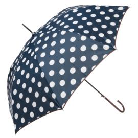 Paraplu, blauw / wit