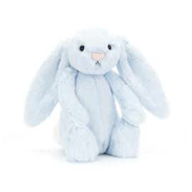 """""""JELLYCAT"""" Bashful Bunny, blue, met of zonder naamborduring"""