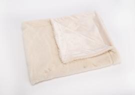 Baby fleecedekentje, gebroken wit met of zonder naamborduring