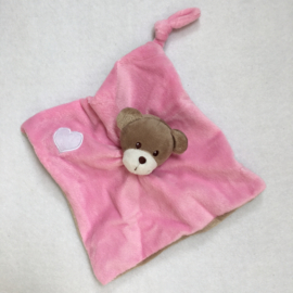 Knuffeldoekje mini, roos, met of zonder naamborduring